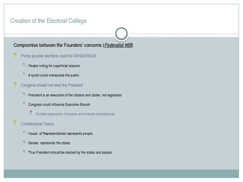 The Electoral College: An Overview & Critique with Reform Options