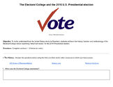 The Electoral College and the 2016 US Presidential Election