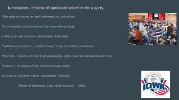The Electoral Process and Forms of Nomination
