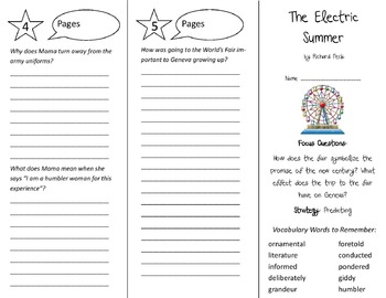 The Electric Summer Trifold - Imagine It 6th Grade Unit 4 Week 4