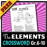 Elements - Crossword FREE! {Editable}