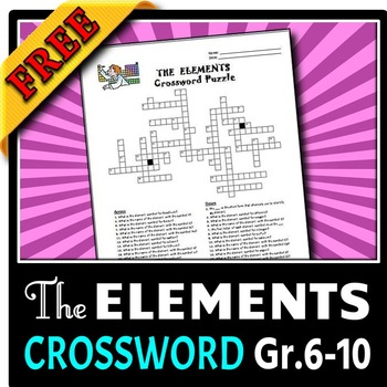 Elements crossword free editable by tangstar science tpt elements crossword free editable urtaz Image collections