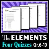 Elements - Four Quizzes {Editable}