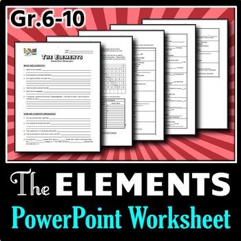 Elements - PowerPoint Worksheets {Editable}