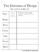 The Elements and Principles of Design Worksheets