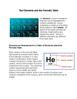 The Elements and the Periodic Table