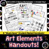 The Elements of Art: 8 Essential Handouts & More! Art Dist