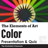 The Elements of Art - Color - PowerPoint Lecture Notes, Quiz, and Quiz Key