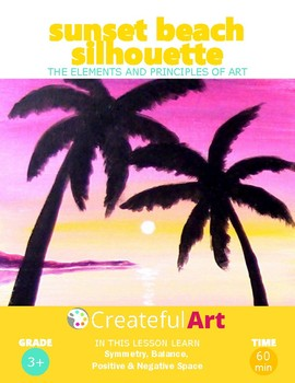 The Elements of Art- Sunset Beach silhouette