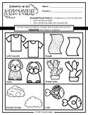 The Elements of Art (Texture) worksheet focuses on Implied/Visual Texture!