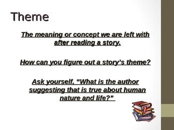 The Elements of Fiction PowerPoint- A Quick Lesson