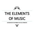The Elements of Music Worksheets