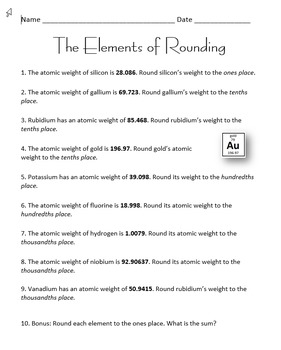 The Elements of Rounding
