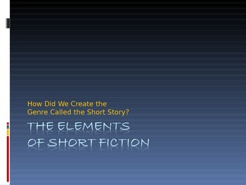 The Elements of Short Fiction