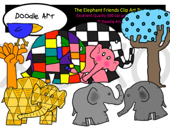 The Elephant Friends Clipart Pack
