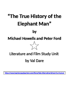"""The Elephant Man"" Literature and Film Study (2016)"