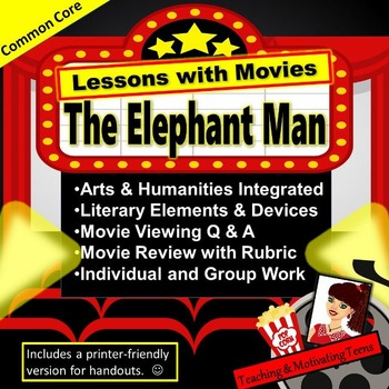 The Elephant Man Lesson Packet