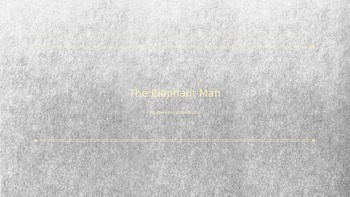 The Elephant Man - Stageplay