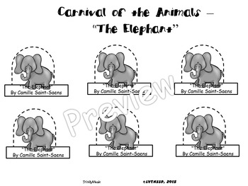 L Elephant Carnival Of The Animals Elephant, The f...
