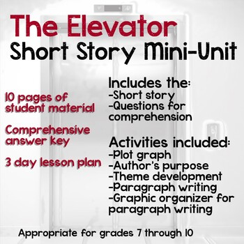 The Elevator Short Story Mini Unit