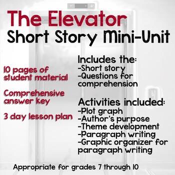 The Elevator Short Story Mini Unit