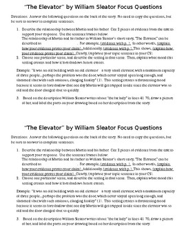 the elevator by william sleator summary
