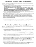 The Elevator by William Sleator Focus Questions