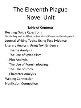 The Eleventh Plague Novel Unit