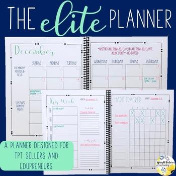 The Elite Planner - A Planner for TpT Sellers and Edupreneurs