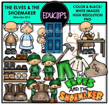 The Elves And The Shoemaker Clip Art Bundle {Educlips Clipart}