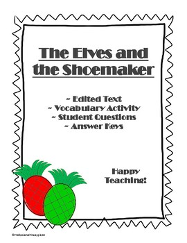 Short Story The Elves and the Shoemaker with Vocabulary