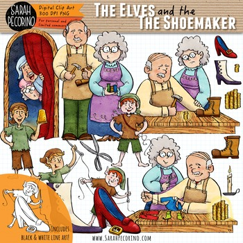 The Elves and the Shoemaker Clip Art