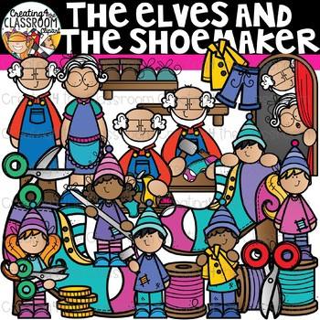 The Elves and the Shoemaker Clipart Bundle {Reading Clipart}