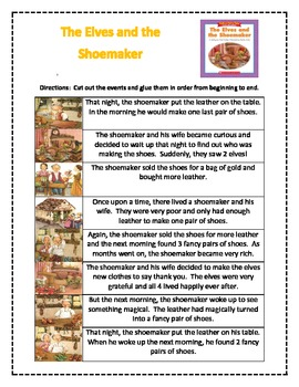 The Elves and the Shoemaker Story Sequence