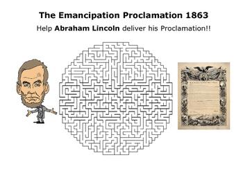 The Emancipation Proclamation 1863 Puzzle Maze