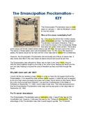 The Emancipation Proclamation --  CLOZE Reading Passage