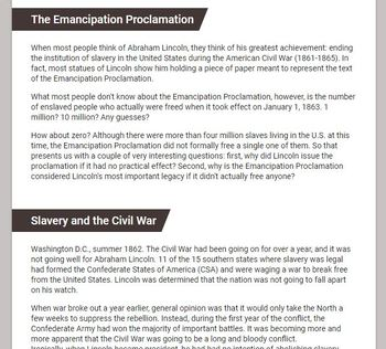 The Emancipation Proclamation - Google Form
