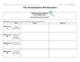 The Emancipation Proclamation Historical Investigation
