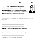 Emancipation Proclamation - Text Analysis