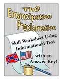 The Emancipation Proclamation Using Informational Text