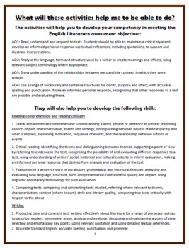 The Emigree - Carol Rumens - Comprehension Activities Booklet!