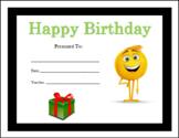 The Emoji Movie Birthday Certificates (Includes 5 Birthday Certificates)