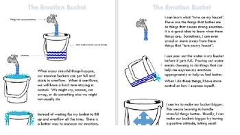 The Emotion Bucket (Editable Word Doc)