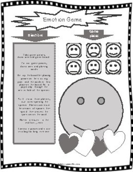 The Emotions Game- Print Emotional Learning Game, SEL, Board Game, Counselling