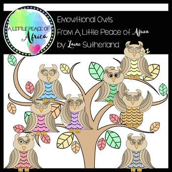 The Emowltional Owls Clip Art Collection