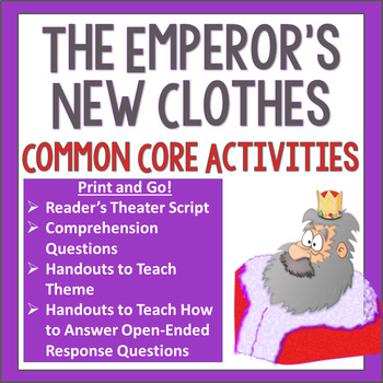 The Emperor S New Clothes Readers Theater And Common Core Activities