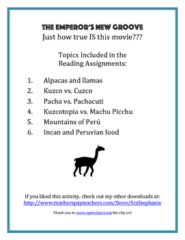 The Emperor's New Groove - How true IS this movie? Post-Viewing Reading Activity