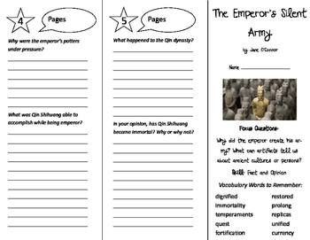 The Emperor's Silent Army Trifold - Imagine It 6th Grade Unit 2 Week 4