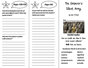 The Emperor's Silent Army Trifold - Journeys 6th Grade Unit 4 Week 2 (2011)
