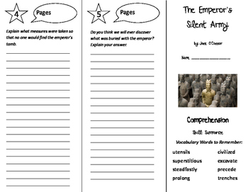 The Emperor's Silent Army Trifold - Treasures 6th Grade Unit 3 Week 4